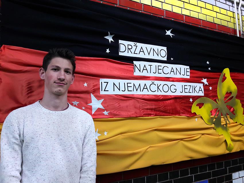 Marin Geljić - treći na Državnom natjecanju iz njemačkog jezika